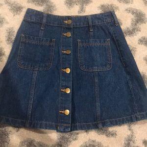 H&M divided denim skirt
